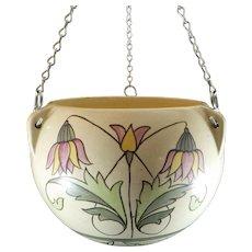 Roseville Pottery Persian Hanging Basket 315-6