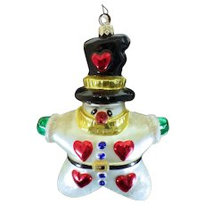 "Four Christopher Radko Ornaments - ""Hearts for You"" - ""Nine Of Hearts"" - ""Warm Hearted Wonder"" - ""Merry Melody"""