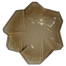 """Art Deco Consolidated Glass Ruba Rombic Smoky Topaz Plate 8"""""""