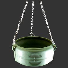 Roseville #3656-5 Matt Green Hanging Planter Basket