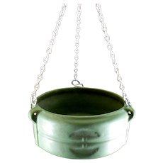 Roseville #3656-5 Matt Green Hanging Planter Basket