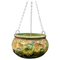 Roseville Pottery Blackberry Hanging Basket 348-5