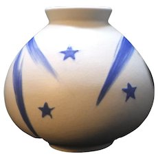"Early 1930's Weller Art Deco Pottery Shooting Star Comet ""Geode "" Vase"