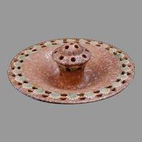 Roseville Ferella Bowl with Flower Frog 87-8