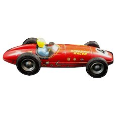 Vintage Line Mar Speedway Racer Indianapolis Style Japan 4 Toy Tin Friction Car