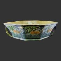 Roseville Pottery Baneda Green Console Bowl 234-10