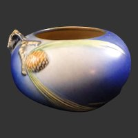 Roseville Blue Pinecone Bowl 278-4
