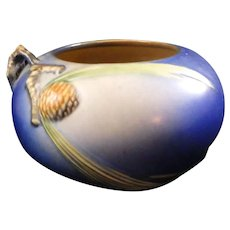 Roseville Blue Pinecone Bowl 278-4