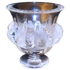 Signed Lalique Bird Dampiere Vase