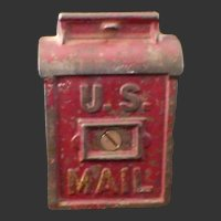 U.S. Mail Cast Iron Coin Penny Bank AC Williams Kenton C1910