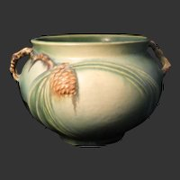 Roseville Green Pinecone 632-4 Vase