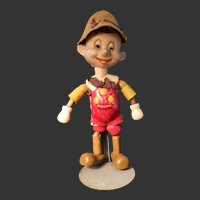 "Vintage Disney 8"" Ideal Wood and Composition Pinocchio Doll"