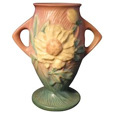 Roseville Peony Vase 61-7
