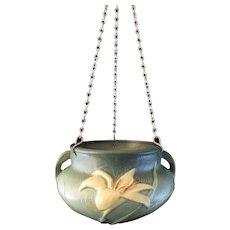 Roseville Pottery Zephyr Lily Hanging Basket 472-5
