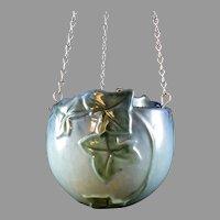 Roseville Wincraft Blue Hanging Basket 261-6