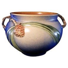 Roseville Blue Pinecone 632-4 Vase