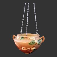 Roseville Pottery Snowberry Hanging Basket 1HB-5