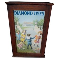 """Diamond Dyes Store Display Cabinet """"Mansion"""""""