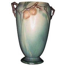 Roseville Pottery Green Pinecone Vase 709-10