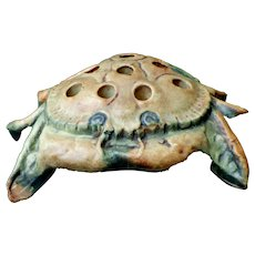 Weller Pottery Muskota Crab 8 Hole Flower Frog