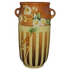 Roseville Cherry Blossom 620-7 Two Handled Vase