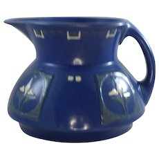 Roseville Pottery Aztec Blue Arts and Crafts Pitcher