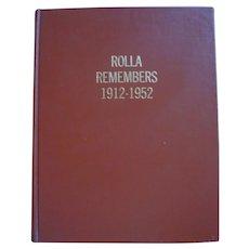 Book - British Columbia History - Rolla Remembers 1912-1952