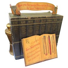 Rare Vintage Drug Store Display Medical Advertising Case Apothecary