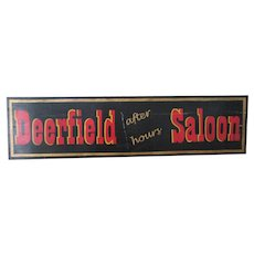 "Big 48"" Vintage Hand Painted Saloon Bar Sign Wood Country Primitive"