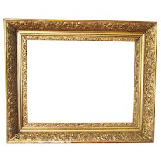 """Antique Victorian Ornate Gold Gilt Picture Frame Wood Gesso for Fine Art Fits 14"""" x 18"""""""