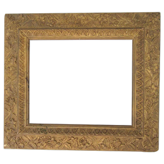 "Antique Victorian Aesthetic Movement Gold Picture Frame Fits 10"" x 12"" Picture Ornate Wood & Gesso"