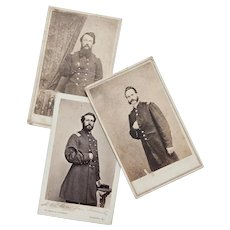 Set of Three Civil War Era Military Photographs