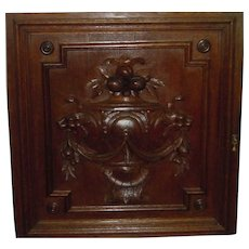 Set of four antique cabinet doors beautifully carved in French oak dating back to the early 1800's