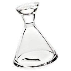 Handmade 30% Lead Crystal Whisky Decanter | Design by Alessandro Lenarda | 1980's | ATLANTIS Portugal