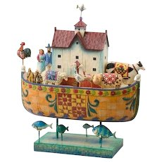 Discontinued Collectible Jim Shore | Large Noah's Ark | w/ Box 2004 Enesco