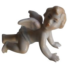 Antique Cherub Piano Baby | Hand Painted Porcelain | 19th Century