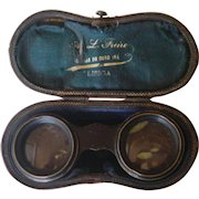 Antique binoculars / opera glasses in original leather case | Portugal | Late 1800's