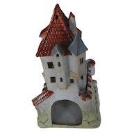19th Century   Unusual Gothic Revival Style Castle   Fine colored bisque porcelaine
