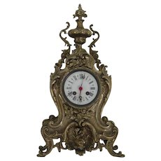 Table clock case in Louis XV style | Hand chased Solid Brass