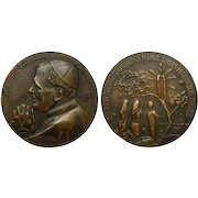 "Large Commemorative Bronze Medal | ""Pope Pilgrim"" 