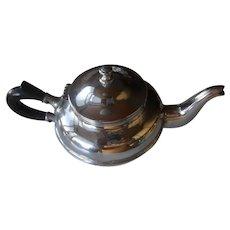 Antique 1900's Victorian Chrome Plated Teapot | Ebonized Wood Handle