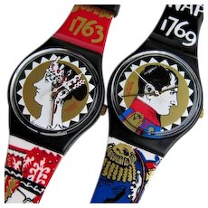 Man's or Woman's SWATCH Collection | 1994 RARE Set | Special Famous Couple (Aiglon+Aiglette)