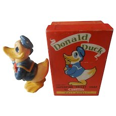 1960's Unusual Vintage Collectible | Disney's Donald Duck Soap w/ Original Box | Made in UK  | Free Shipping