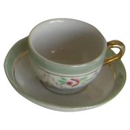 19th Century    RARE Bavarian miniature cup and saucer