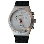 """Man's SWATCH Collection   1996 Irony   RARE Aluminum Chronograph watch   """"Time Cut"""""""
