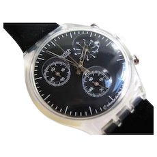 """Man's SWATCH Collection   1996 RARE Chronograph Watch   """"Lavagna"""""""