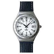 "Man's SWATCH Collection | 1995 Irony Big | RARE Stainless steel Calendar Watch | ""Slate"""