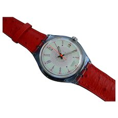 "Man's SWATCH Collection | 1993 RARE Calendar Date AUTOMATIC Watch | ""Brick-Ett"""