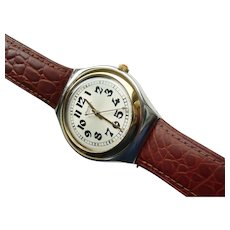 "Man's SWATCH Collection | 1995 Irony Big | RARE Stainless Steel Watch | ""Red Jack"""