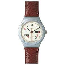 "Man's SWATCH Collection | 1996 Irony Big | RARE Aluminum Calendar Date Watch | ""Promenade"""